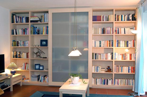 Bibliothek wohnzimmer dunkel - Bibliothek wohnzimmer ...